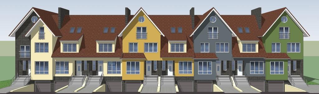 Жилые блоки блокированного жилого дома