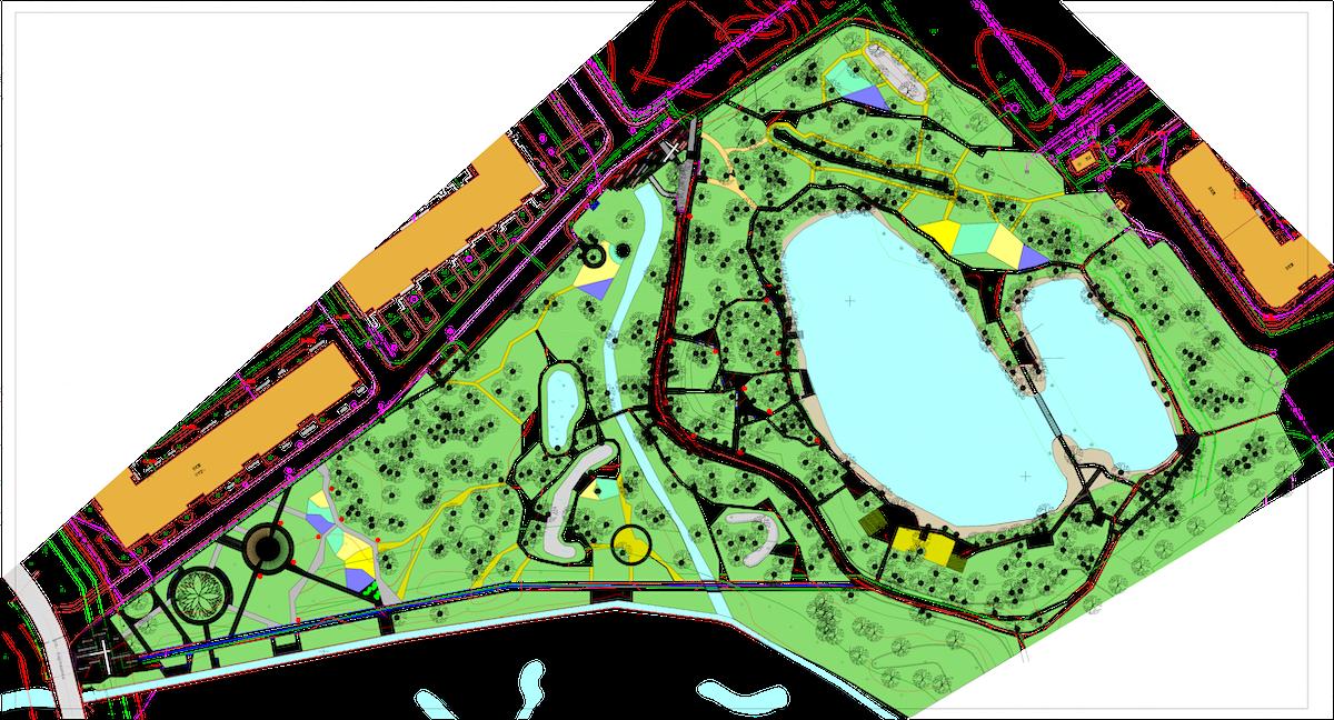 Благоустройство парковой территории