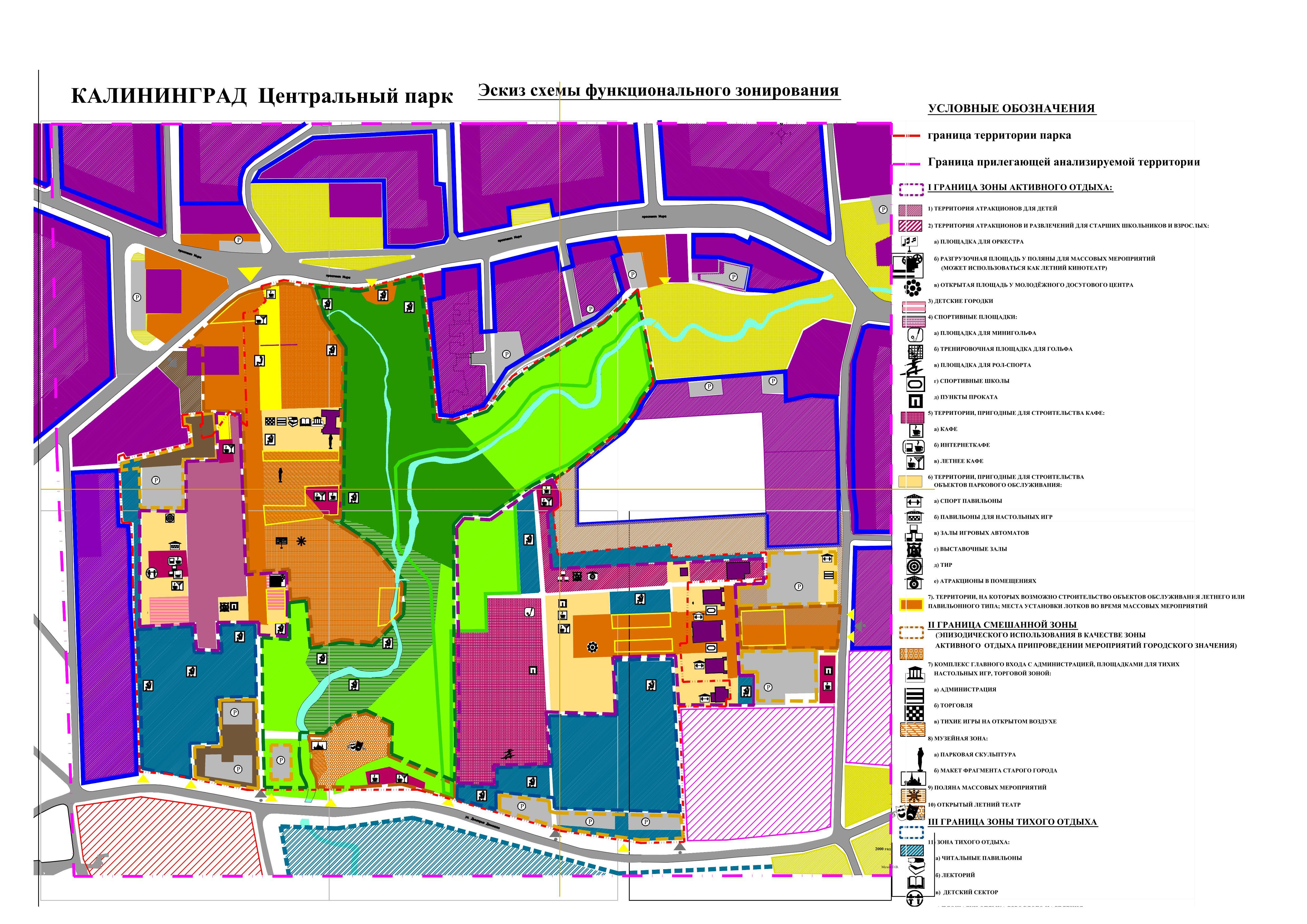 Проект планировки Центрального парка