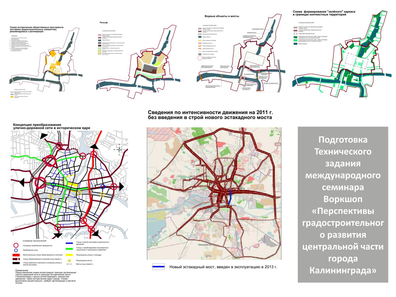 Международный проектный семинар в форме Воркшоп Центральной части г. Калининграда перспективы градостроительного развития